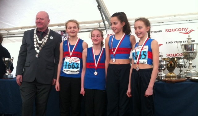 Under 13 Girls Triumph at the National Cross Country Championships