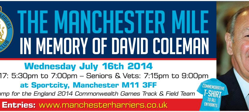 The Manchester Mile – CLOSING DATE THIS FRIDAY 11th July