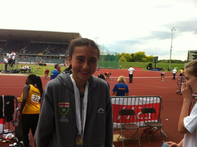 Beth Barlow with ESSA Champs Medal 2014- 2