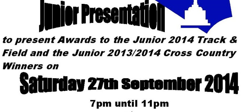 Junior Presentation Evening – Saturday 27th September at Didsbury Cricket Club.