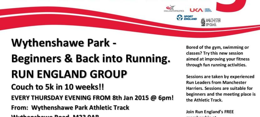 Beginners Back into Running. Every Thursday at 6pm.