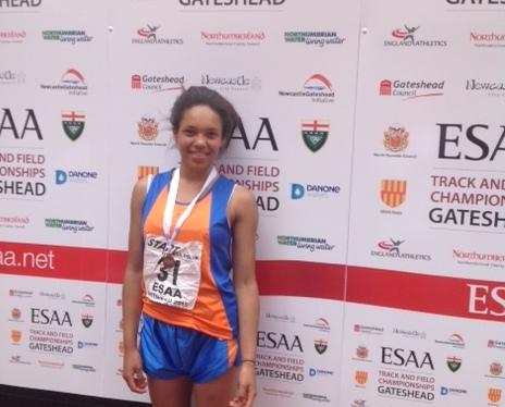 Trinity Perruzza-Powell comes 3rd in ESSA100m
