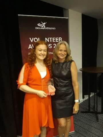 Jessica Morrissey wins Young Volunteer of the Year for the North West Region.