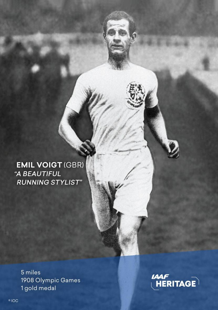 Emil Voigt awarded IAAF World Heritage plaque